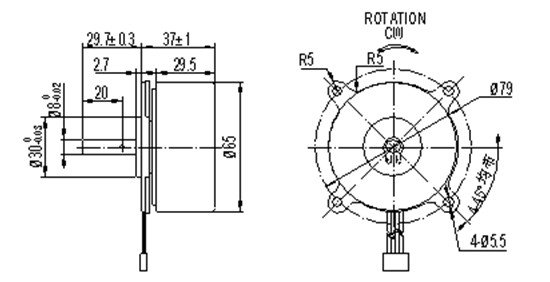 bl65-outer-rotor-outline-drawing