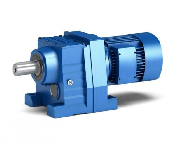 R series Helical gear worm gearbox