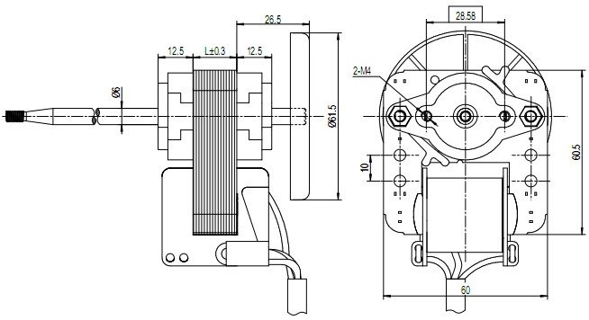 sp60-motor-outline-drawing