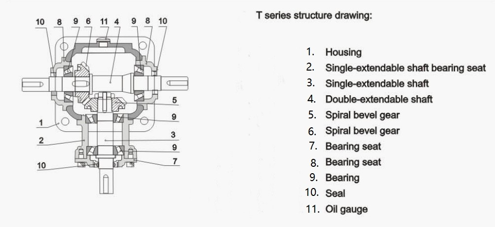 t-series-bevel-gearbox-structure