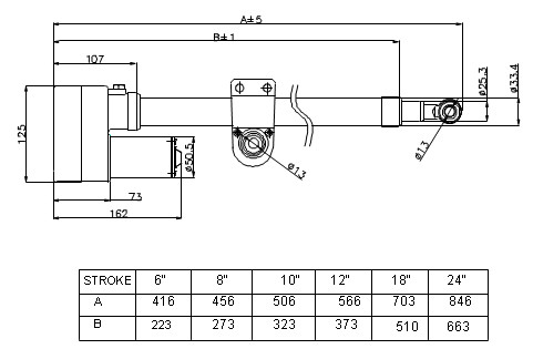 td-actuator-outline-drawing