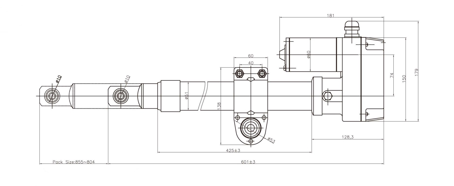 satellite-dish-actuator-heavy-duty-type-outline-drawing