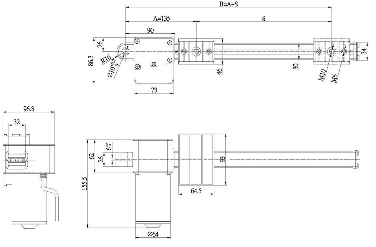 LTA linear actuator drawing thomson linear wiring diagrams wiring diagrams electron intercom wiring diagram at arjmand.co