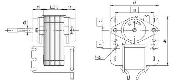 sp48-motor-outline-drawing