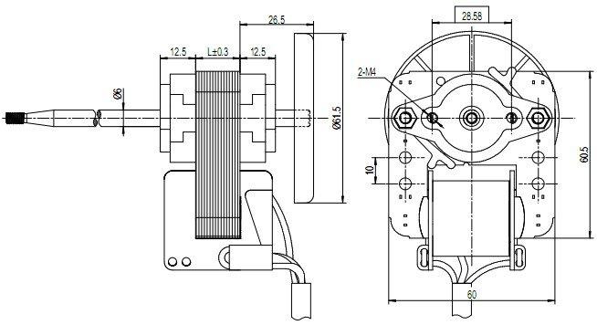 sp60-motor-outline-drawing
