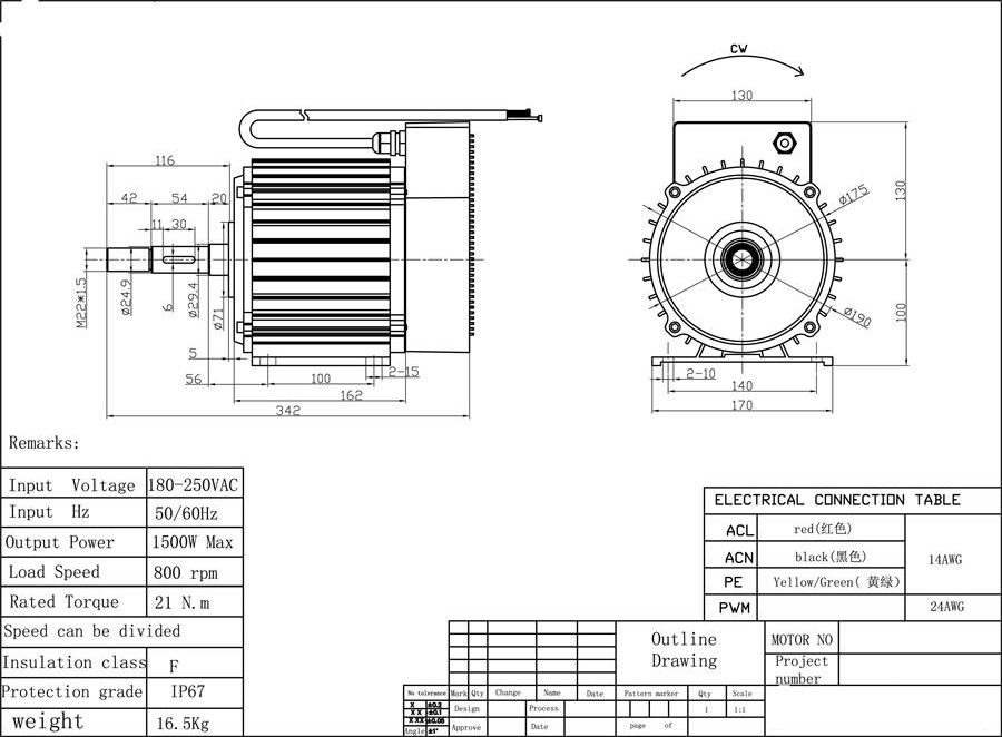 barn fan motor drawing