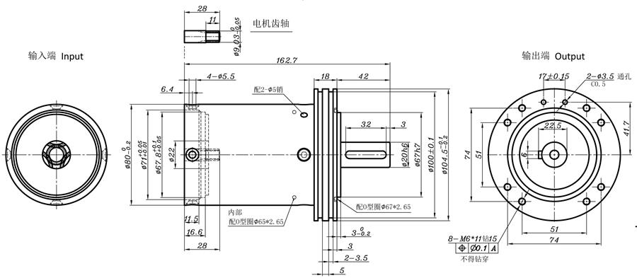 planetary gear for solar tracker drawing