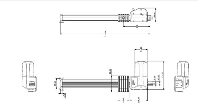 desktop riser motor drawing