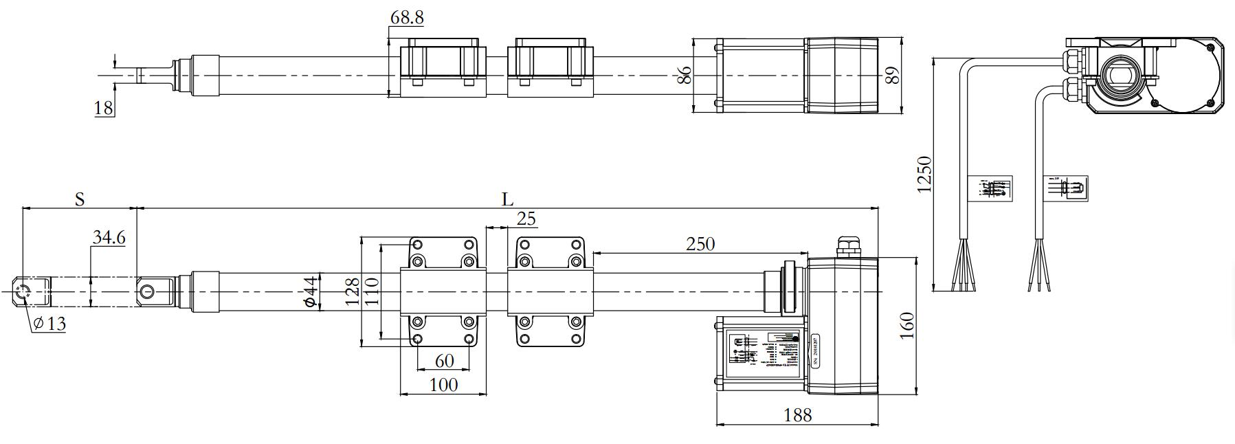 vent door actuator drawing