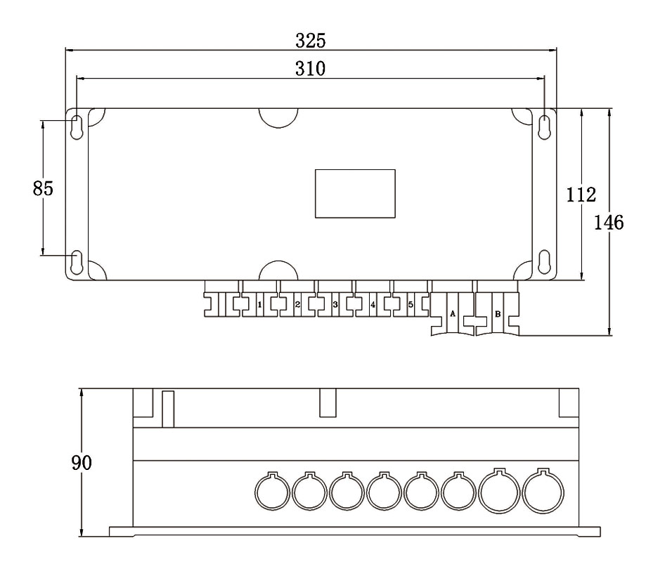 control box for multiple linear actuator size drawing