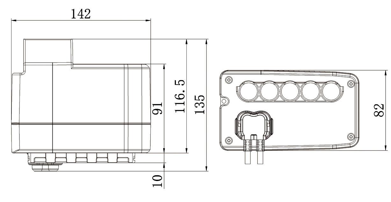 Control Box for 4 actuators - Power Jack Motion