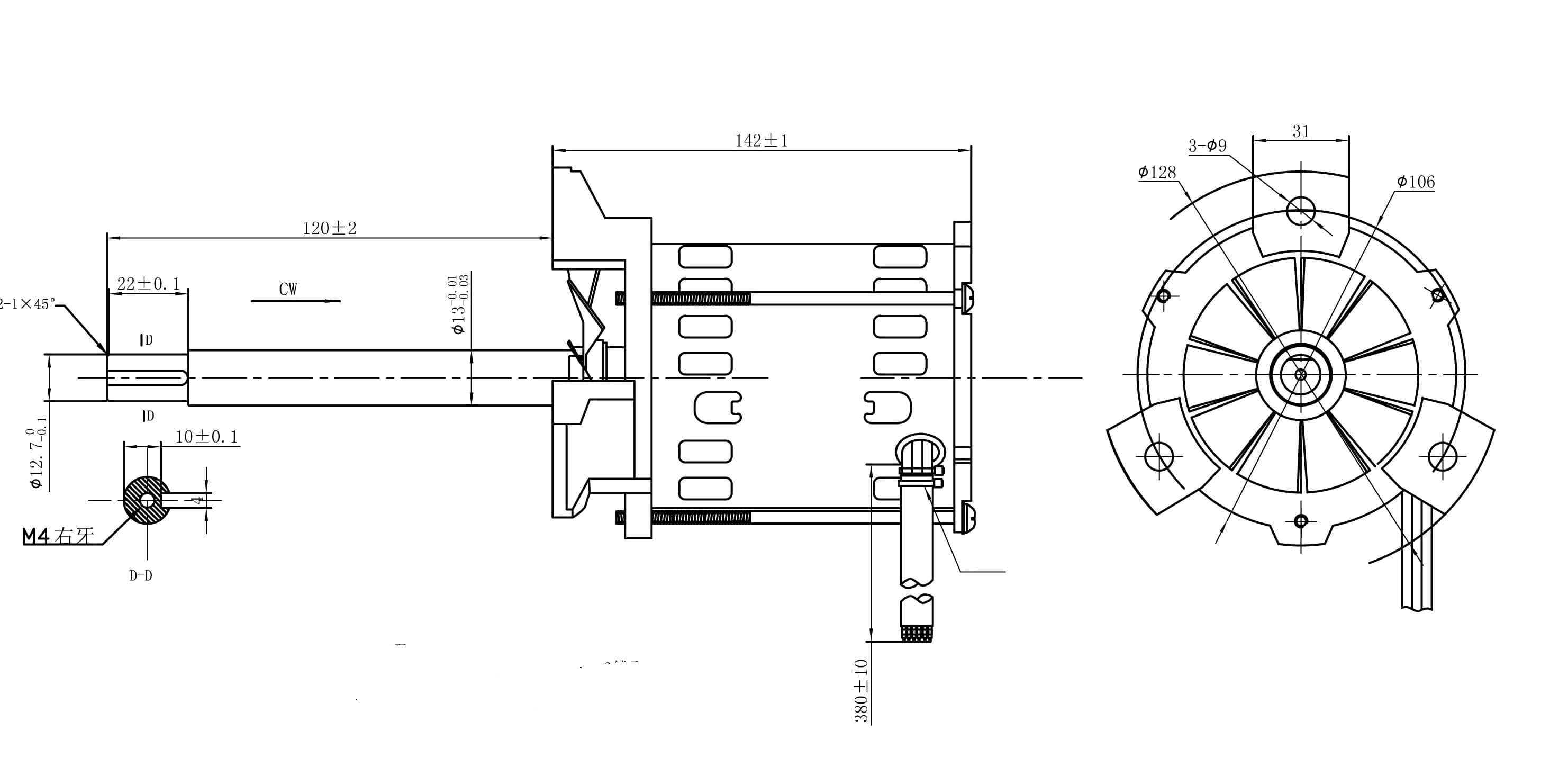 reflow soldering motor drawing